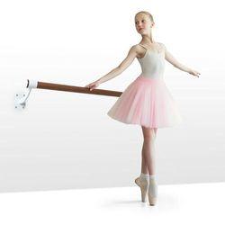 KLARFIT Barre Mur, drążek baletowy, 100cm drążek, Ø 38 mm, montaż naścienny, biały