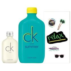Calvin Klein CK One Summer 2020 zestaw Edt 100 ml + Edt CK One 15 ml + Naklejki unisex