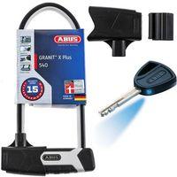 Zabezpieczenia do roweru, ABUS Granit X Plus U-Lock + USH 540, black 2019 U-locki