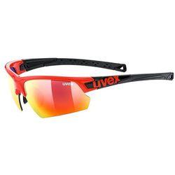 Okulary sportowe Uvex Sportstyle 224 3216 kolor czerwony czarny