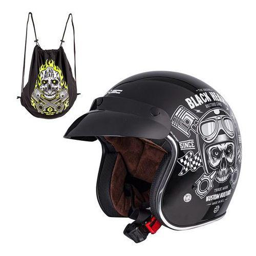 Kaski motocyklowe, Kask motocyklowy otwarty chopper W-TEC V541 Black Heart,, XXL (63-64)