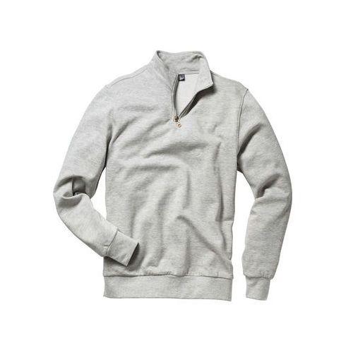 Pozostała odzież sportowa, Bluza ze stójką bonprix jasnoszary melanż