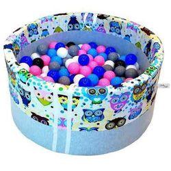 Suchy basen z piłeczkami dla dzieci BabyBall niebieskie sowy