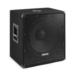 """Vonyx SMWBA18 aktywny 18"""" subwoofer PA maks. moc 1000 W Bluetooth MP3 flansza"""