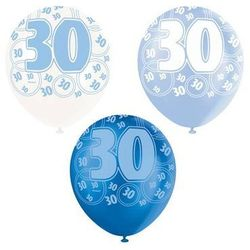 Balony lateksowe z nadrukiem 30 - mix - 30 cm - 6 szt.