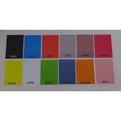 Kolory karty edukacyjne - wersja w j. angielskim
