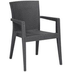 Krzesło do ogródków piwnych | antracytowe | 600x570x(H)850 mm