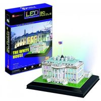 Puzzle, PUZZLE 3D LED BIAŁY DOM 56 EL.