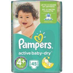PAMPERS Active Baby-Dry Pieluchy 4+ Maxi Plus 45szt pieluszki