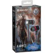 Słuchawki z mikrofonem Defender LANCE douszne gaming czarno-czerwone