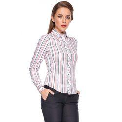 Koszula w pionowe paski - Duet Woman