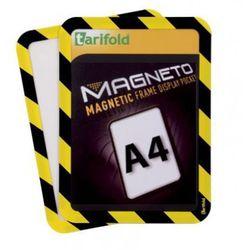 Kieszeń magnetyczna A4, 2 szt., żółto-czarna