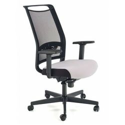 Popielaty fotel do biurka - Romino