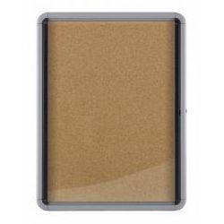 Gablota wewnętrzna 8 x A4 korkowa (drzwi wahadłowe)