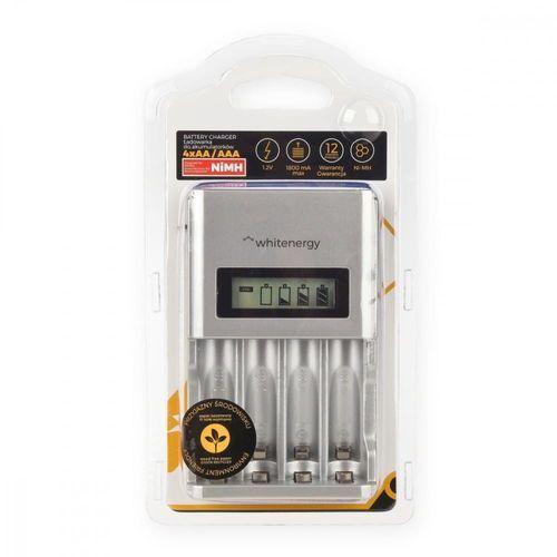 Ładowarki do akumulatorków, WHITENERGY ŁADOWARKA 4xAA/AAA LCD 1800mA