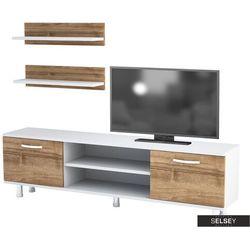 SELSEY Szafka RTV Olivea z dwiema półkami