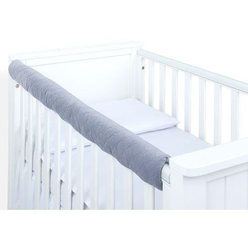 Zabezpieczenia do łóżeczek, MAMO-TATO Ochraniacz na górną krawędź łóżeczka - Velvet Szary