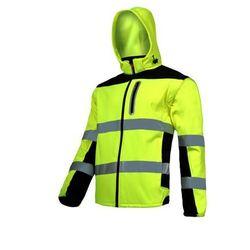 """LAHTI PRO L4091901 Kurtka SOFT-SHELL ostrzegawcza z odpinanymi rękawami, żółta, """"S"""", CE"""
