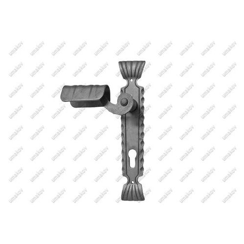 Przęsła i elementy ogrodzenia, Klamka z szyldem h260mm