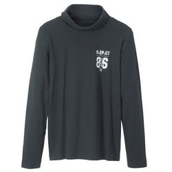 Shirt z golfem bonprix czarny