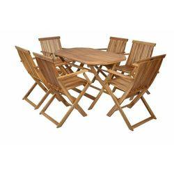 Hecht Meble Ogrodowe Basic Set 4 Stół + 4 Krzesła Drewno promocja (-23%)
