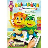 Kolorowanki, Kolorowanka A4/8 4D Lew I Krokodyl