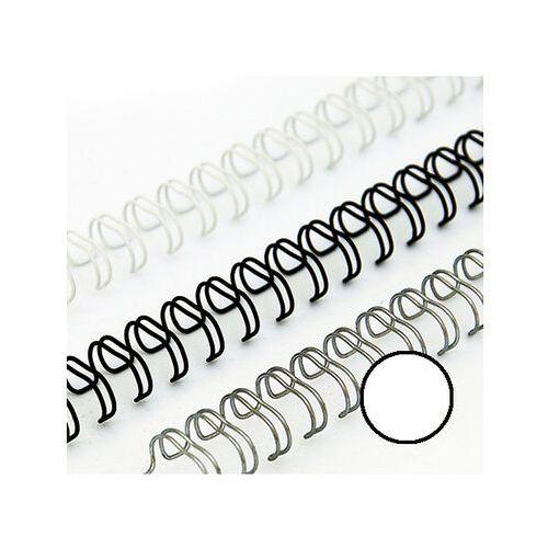 Grzbiety do bindownic, Grzbiety drutowe 12.7 mm, oprawa do 100 kartek, białe