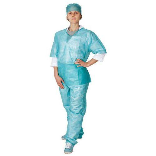 Ubrania medyczne, Komplet ochronny bluza + spodnie + czepek (10 szt) XL 35