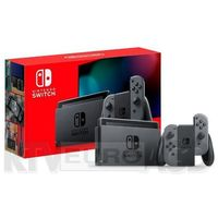 Gamepady, Nintendo Switch Joy-Con v2 (szary) Nowy Model 2019 NSH006