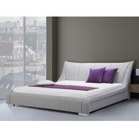 Łóżka, Nowoczesne łóżko tapicerowane ze stelażem 160x200 cm - NANTES szare