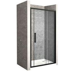 Drzwi prysznicowe z czarnym profilem 110 cm Rapid Slide Rea UZYSKAJ 5 % RABATU NA ZAKUP
