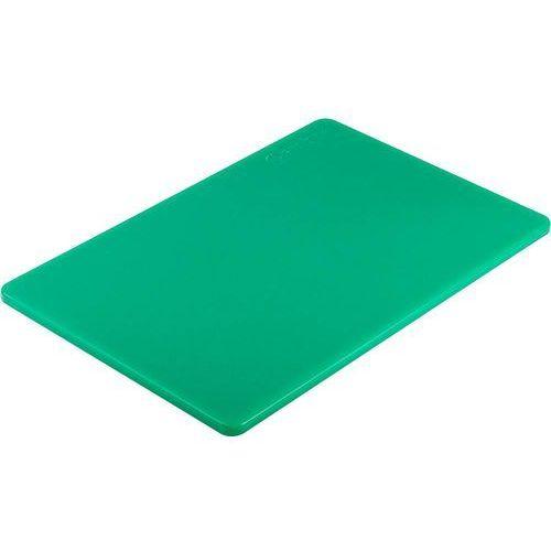 Deski kuchenne, Deska do krojenia z polietylenu 450x300 mm zielona   STALGAST, 341452