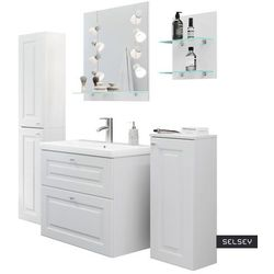 SELSEY Zestaw mebli łazienkowych Rizzos biały