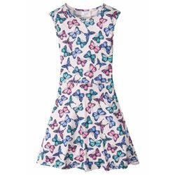 Sukienka z nadrukiem w motyle bonprix bladoróżowy z nadrukiem