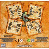 Puzzle, Łamigłowki metalowe 4 sztuki Puzzle-mania zestaw pomarańczowy