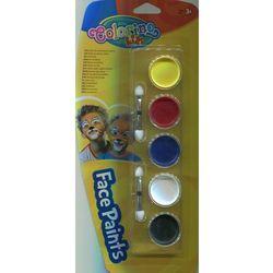 Farby do malowania twarzy Colorino 5 kolorów - PATIO
