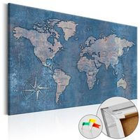 Obrazy, Obraz na korku - Szafirowa planeta [Mapa korkowa]