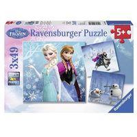 Puzzle, Puzzle 3x49 elementów - Kraina Lodu: Zimowe przygody [3 szt.]