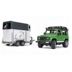 BRUDER Land Rover z przyczepą oraz koniem