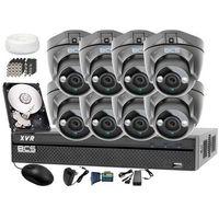 Zestawy monitoringowe, Zestaw do monitoringu: Rejestrator BCS-XVR0801 + 8x BCS-DMQE1200IR3 - Dysk 1tB + Akcesoria