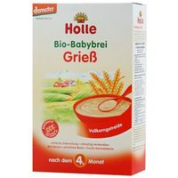 Kaszki i kleiki, HOLLE 250g Grieb Kaszka BIO z pszenicy z pełnego przemiału po 4 miesiącu życia