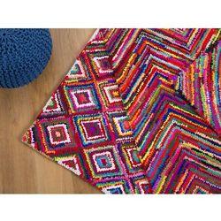 Dywan - kolorowy - poliester - bawełna - shaggy - 160x230 cm - KAISERI