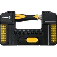 Zestawy narzędzi ręcznych, ZESTAW KOŃC. ŚRUBOKRĘT 37CZ. Z UCHWYTEM Vorel 65022 - ZYSKAJ RABAT 30 ZŁ