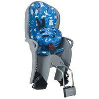 Foteliki rowerowe, Fotelik rowerowy Hamax KISS szaro-niebieski + kask