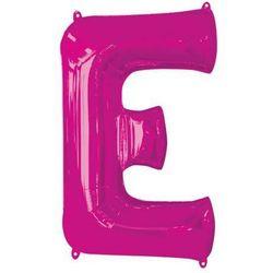 Balon foliowy różowa litera E - 53 x 81 cm - 1 szt.