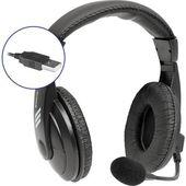 Defender Gryphon 750U, słuchawki z mikrofonem, regulacja głośności, czarna, zamykane, USB