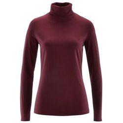 Shirt ze stretchem i golfem, długi rękaw bonprix czerwony klonowy