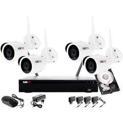 Monitoring zestaw bezprzewodowy 4 kamery WIFI 1080P + Rejestrator IP + Dysk 500GB