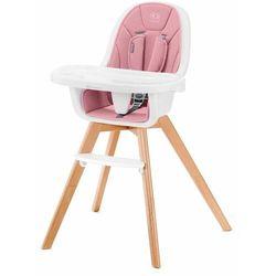 Krzesełko do karmienia Tixi 2w1 różowe + RATY 0%.