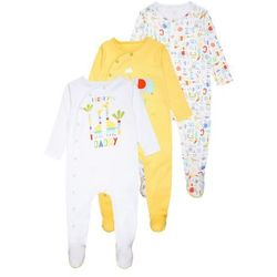 mothercare UNISEX HANGING MUMMY AND DADDY SLEEPSUIT BABY 3 PACK Piżama brights multicolor